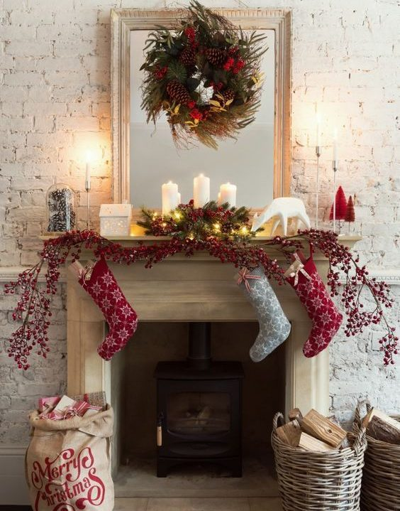 decotherapy-decoracion-navidad-chimenea-corona-velas